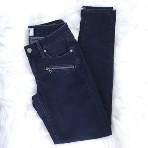 Paige indigo Zip Dark Stretchy Jeans 👖
